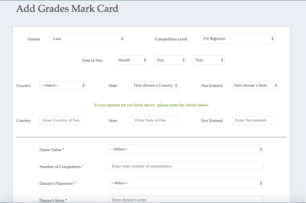 First slide image of mark card