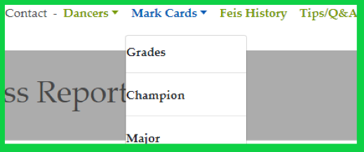 Picture of mark card menu item drop down list